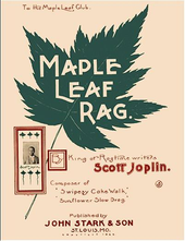 Maple Leaf Rag Sheet Music Cover.
