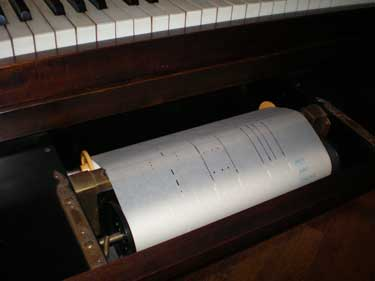 Antique Reproducing Grand Piano - Rolls Went Under The Keybed