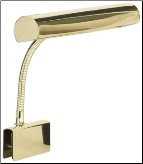 House of Troy - Clip On Piano Lamp - 10 inch shade