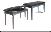 Schaff Economy Bench- Ebony High Gloss