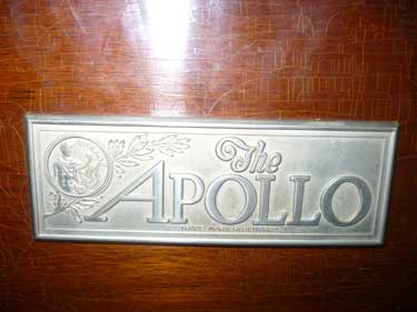 The Apollo Grand Piano Name Plate