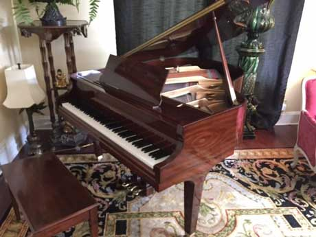 Mahogany Baldwin Grand Piano