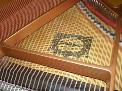 1994 Yamaha Baby Grand - View of the Plate Soundboard and Strings