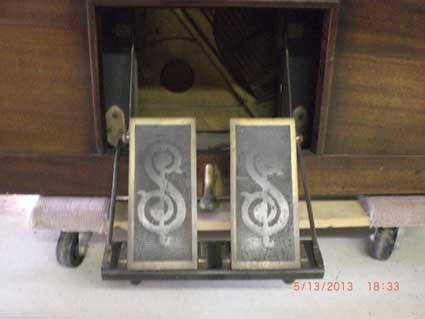 Old Pump Action Player Pianos Had 2 Pedals Similar to a Reed Organ