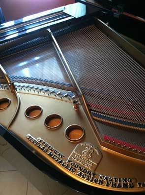 Inside View of a Steinway Grand Piano Model M on sale in NJ.